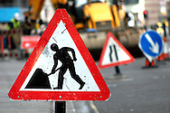 Roadworks Warning Signs, London - 2008