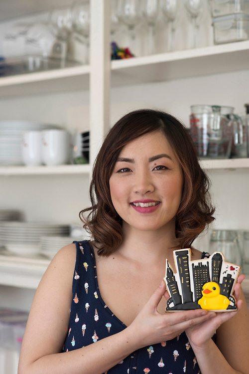 Jasmine Cho - founder of Yummyholic - at her Squirrel Hill home.