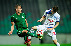 Marko Putinčanin of Olimpija vs Amadej Brecl of Celje during football match between NK Olimpija Ljubljana and NK Celje in 3rd Round of Prva liga Telekom Slovenije 2018/19, on Avgust 05, 2018 in SRC Stozice, Ljubljana, Slovenia. Photo by Vid Ponikvar / Sportida