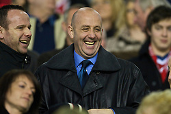 LIVERPOOL, ENGLAND - Saturday, December 26, 2009: Former Liverpool star Gary McAllister watches from the stands as his side take on Wolverhampton Wanderers in the Premiership match at Anfield. (Photo by: David Rawcliffe/Propaganda)
