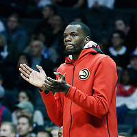 08 January 2018: Atlanta Hawks center Dewayne Dedmon (14) is seen during the LA Clippers 108-107 victory over the Atlanta Hawks, at the Staples Center, Los Angeles, California, USA.