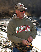 Mark Hanks from Edmond, Oklahoma has been coming to Blue River with his boys Camron and Tyler since the mid 1980's to fish for rainbow trout. His son Camron was a Marine who served in Iraq.