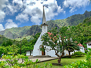 Catholic Church, Omao, Fatu Hiva, Marquesas, French Polynesia, South Pacific