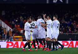 January 26, 2019 - Valencia, U.S. - VALENCIA, SPAIN - JANUARY 26: Valencia CF team celebrates goal of Diakhaby, defender of Valencia CF during the La Liga match between Valencia CF and Villarreal CF at Mestalla stadium on January 26, 2019 in Valencia, Spain. (Photo by Carlos Sanchez Martinez/Icon Sportswire) (Credit Image: © Carlos Sanchez Martinez/Icon SMI via ZUMA Press)