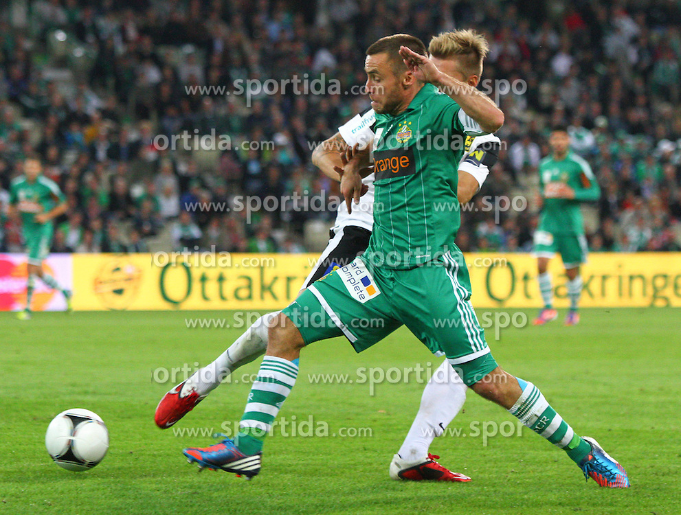 15.09.2012, Gerhard Hanappi Stadion, Wien, AUT, 1. FBL, SK Rapid Wien vs FC Admira Wacker Moedling, 08. Runde, im Bild Thorsten Schick (FC Admira Wacker Moedling), Steffen Hofmann (SK Rapid Wien)// during Austrian Bundesliga Football Match, 8th round, between SK Rapid Wien vs FC Admira Wacker Moedling at the Gerhard Hanappi Stadium, Vienna, Austria on 2012/09/15. EXPA Pictures © 2012, PhotoCredit: EXPA/ Sebastian Pucher