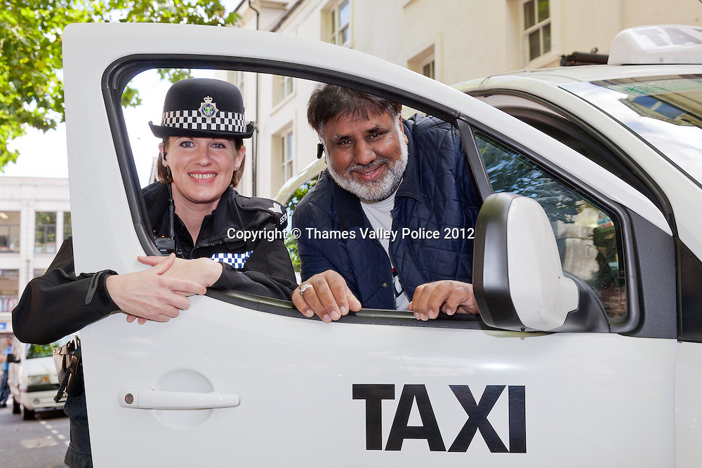 Portrait of Sergeant Katrina Hibbert from Banbury Police Station, who has been named Oxfordshire Community Police Officer of the Year in the 2012 Thames Valley Police Community Policing Awards, which are voted for by members of the public. Katrina introduced the increasingly successful Taxi Watch scheme to Banbury which promotes safety for cab drivers as well as encouraging the prevention and detection of crime by using in car CCTV and an alert radio network . Banbury, UNITED KINGDOM. September 27 2012. <br /> Photo Credit: MDOC/Thames Valley Police<br /> &copy; Thames Valley Police 2012. All Rights Reserved. See instructions.