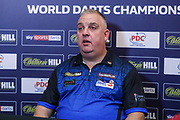 James Richardson post match press interview during the PDC William Hill World Darts Championship at Alexandra Palace, London, United Kingdom on 15 December 2019.