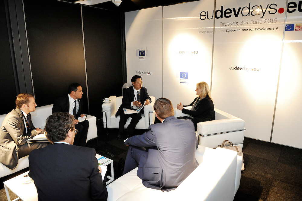 20150604- Brussels - Belgium - 04 June2015 - European Development Days - EDD  - <br /> Li Yong UNIDO and Heike Ruettgers EIB<br /> &copy; EU/UE