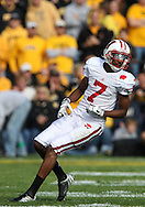 18 OCTOBER 2008: Wisconsin wide receiver Kyle Jefferson (7) in the first half of an NCAA college football game against Wisconsin, at Kinnick Stadium in Iowa City, Iowa on Saturday Oct. 18, 2008. Iowa won 38-16.