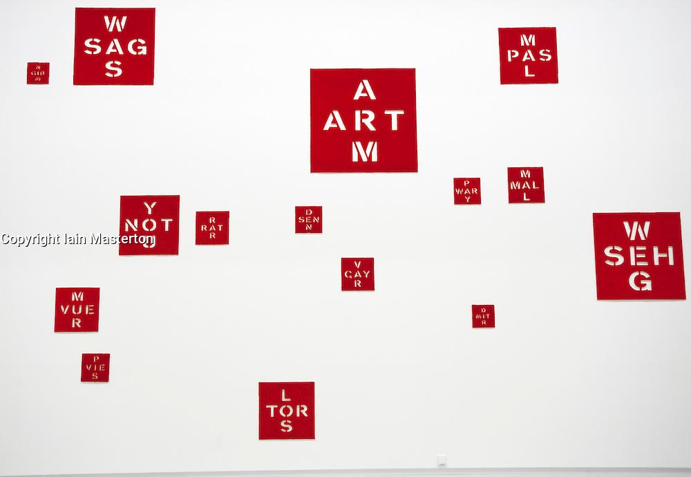 Modern painting installation at Berlinische Galerie modern art museum in Mitte Berlin Germany