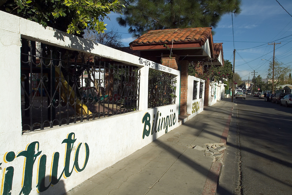 Quiet street in Tecate, Mexico