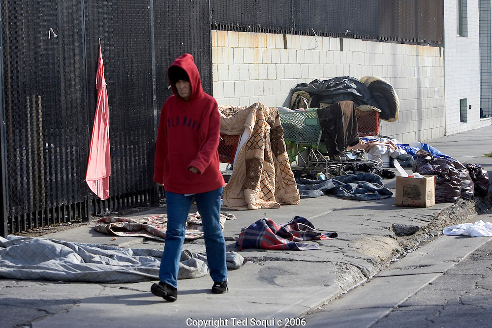 Downtown Los Angeles's skid row.