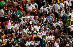 MOSCOW, June 17, 2018  Fans of Germany react after a group F match between Germany and Mexico at the 2018 FIFA World Cup in Moscow, Russia, June 17, 2018. Mexico won 1-0. (Credit Image: © Wang Yuguo/Xinhua via ZUMA Wire)
