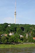 Fernsehturm am Elbhang, Wachwitz, Dresden, Sachsen, Deutschland.|.tv-tower, Wachwitz, Dresden, Germany