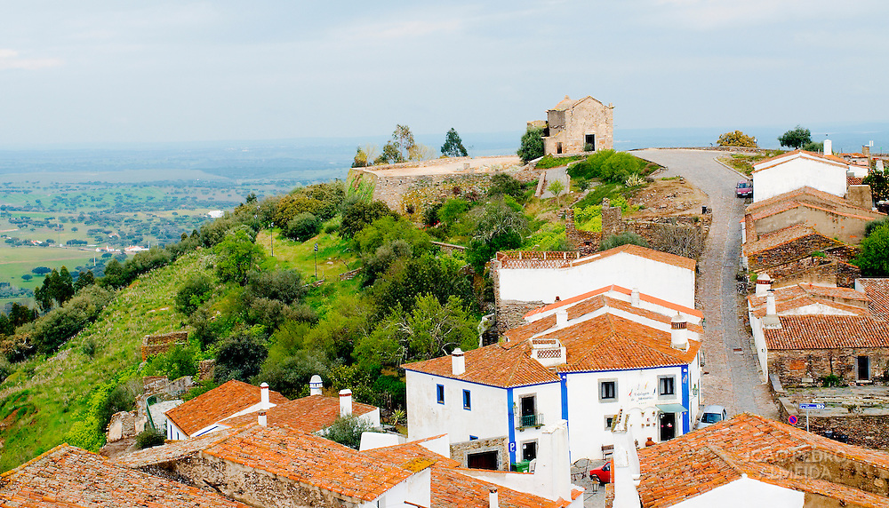 View of traditional houses at Monsaraz