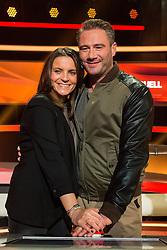 "16.02.2016, Huerth, GER, Settermin, Paarduell, im Bild Sascha (Schauspieler, Saenger) mit seiner Ehefrau Julia Roentgen // during a photocall for the German TV-Show ""Paarduell"" in Huerth, Germany on 2016/02/16. EXPA Pictures © 2016, PhotoCredit: EXPA/ Eibner-Pressefoto/ Schueler<br /> <br /> *****ATTENTION - OUT of GER*****"