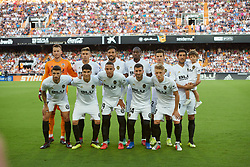 August 20, 2018 - Valencia, U.S. - VALENCIA, SPAIN  - AUGUST 20: Team of Valencia cf on prior to the La Liga between Valencia CF and Atletico de Madrid on August 20, 2018 at Mestalla in Valencia, Spain. (Photo by Carlos Sanchez Martinez/Icon Sportswire) (Credit Image: © Carlos Sanchez Martinez/Icon SMI via ZUMA Press)