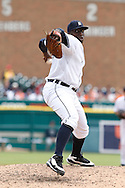 April 29, 2010:  Detroit Tigers' Dontrelle Willis (21) during the MLB baseball game between the Minnesota Twins vs Detroit Tigers at  Comerica Park in Detroit, Michigan. Tigers defeated the Twins 3-0.