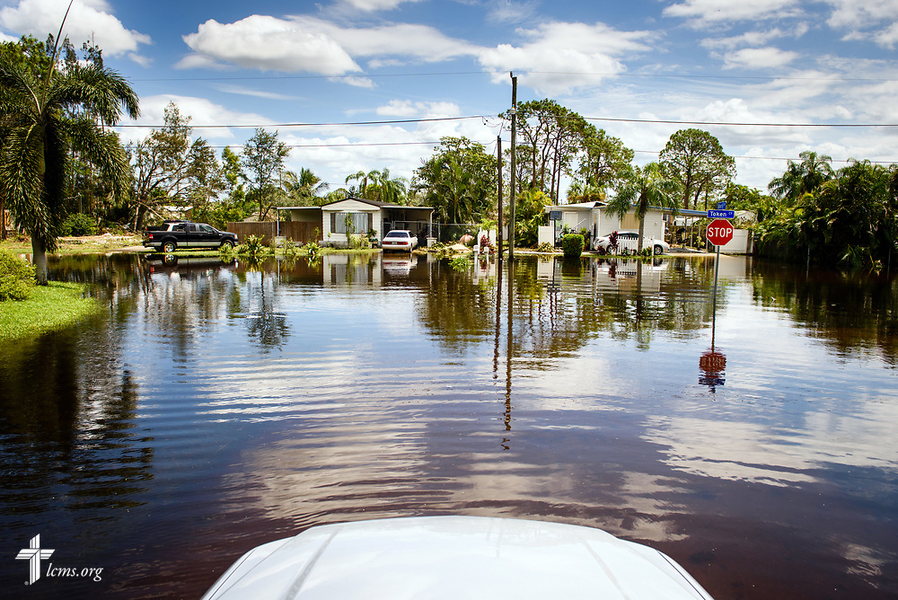 A neighborhood street flooded by Hurricane Irma on Wednesday, Sept. 13, 2017, in Bonita Springs, Fla. LCMS Communications/Erik M. Lunsford