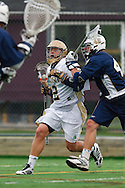 May 1, 2009:    #42 Scott Rodgers of Notre Dame and #42 Glebocki, Jake of Quinnipiac in action during the NCAA Lacrosse game between Notre Dame and Quinnipiac at GWLL Tournament in Birmingham, Michigan. (Credit Image: Rick Osentoski/Cal Sport Media)