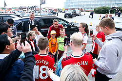 Phil Jagielka of Sheffield United meets fans as he arrives for the Premier League fixture against Crystal Palace - Mandatory by-line: Robbie Stephenson/JMP - 18/08/2019 - FOOTBALL - Bramall Lane - Sheffield, England - Sheffield United v Crystal Palace - Premier League