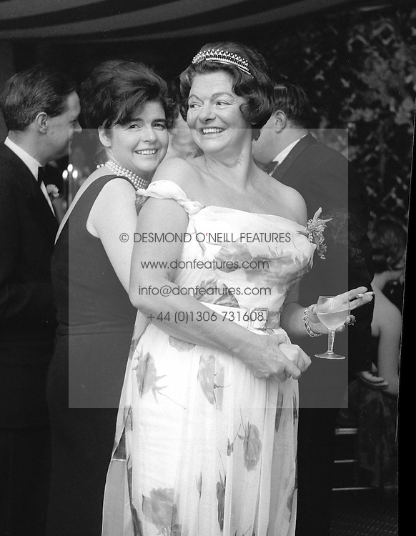 LADY JEAN CAMPBELL and her mother the HON.MRS EDWARD KIDD at a dance in 1961.