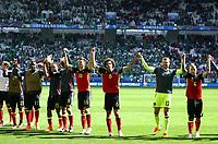 Belgium players celebrating and greeting the supporters esultanza finale con tifosi<br /> Bordeaux 18-06-2016 Nouveau Stade Footballl Euro2016 Belgium - Republic of Ireland  / Belgio - Irlanda Group Stage Group E. Foto Matteo Ciambelli / Insidefoto