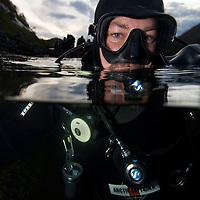 Fredrik Ihrs&eacute;n<br /> Atlantic marine life, Saltstraumen, Bod&ouml;, Norway<br /> Model release by photographer