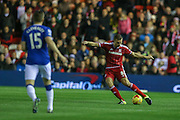 Middlesbrough defender Ben Gibson  during the Capital One Cup match between Middlesbrough and Everton at the Riverside Stadium, Middlesbrough, England on 1 December 2015. Photo by Simon Davies.