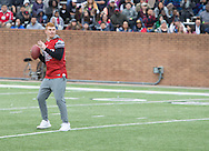 Hometown hero and NFL Quarterback for the Cincinnati Bengals Andy Dalton during game           action, Super Bowl 51 - 16th Annual Celebrity Flag Football Challenge, Rhodes Stadium,  4 Feb 2017, Katy TX.  Red Team Captain Kirk Cousins would lose for the 2nd straight year to Doug Flutie's Blue team by a final score of 40-35.