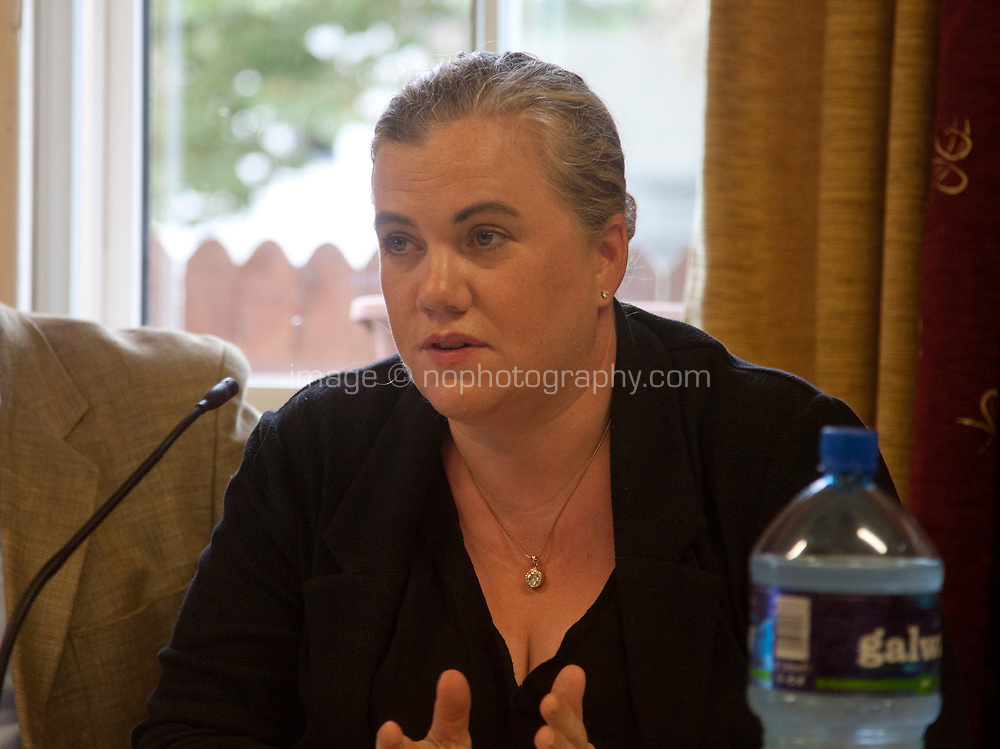 Siobhán Ní Ghadhra (Ros na Rún) at the 'Shaping Film Production in Ireland - the next 10 years' Panel Discussion at the Galway Film Fleadh, Galway Rowing Club, Galway, Ireland. Saturday 14th July 2018