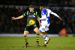 Ellis Harrison of Bristol Rovers closes down Jordan Houghton - Mandatory by-line: Dougie Allward/JMP - 23/12/2017 - FOOTBALL - Memorial Stadium - Bristol, England - Bristol Rovers v Doncaster Rovers - Skt Bet League One