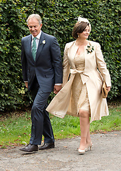 © London News Pictures. 14/09/2013.  Tony Blair and Cherie Blair arriving for the wedding of Euan Blair, Son of former British Prime Minister Tony Blair,  to Suzanne Ashman at All Saints Parish Church in Wotton Underwood, Buckinghamshire. The wedding was attended by Former British Prime minister Tony Blair and his wife Cherie Blair. Photo credit: Ben Cawthra/LNP