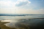 Nederland, Zeeland, Zeeuws-Vlaanderen, 01-04-2016; Terneuzen, Westerscheldetunneltrace, zicht op Dow Chemical vanaf de Westerschelde.<br /> Chemical plant and Western Scheldt. <br /> luchtfoto (toeslag op standard tarieven);<br /> aerial photo (additional fee required);<br /> copyright foto/photo Siebe Swart