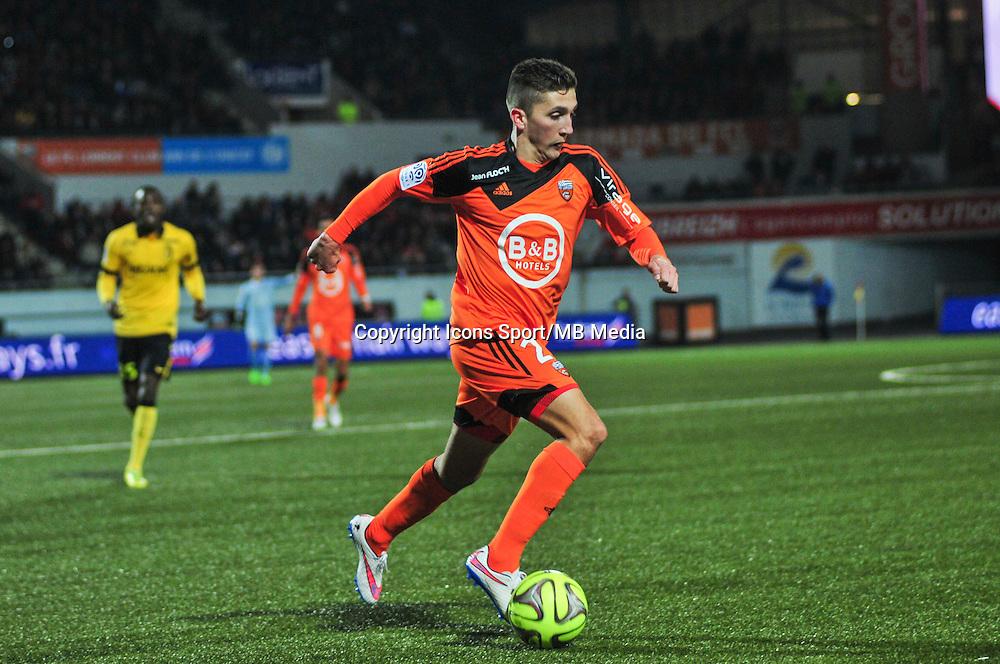 Mathias Autret  - 17.01.2015 - Lorient / Lille - 21eme journee de Ligue 1 <br /> Photo : Phillipe Le Brech / Icon Sport