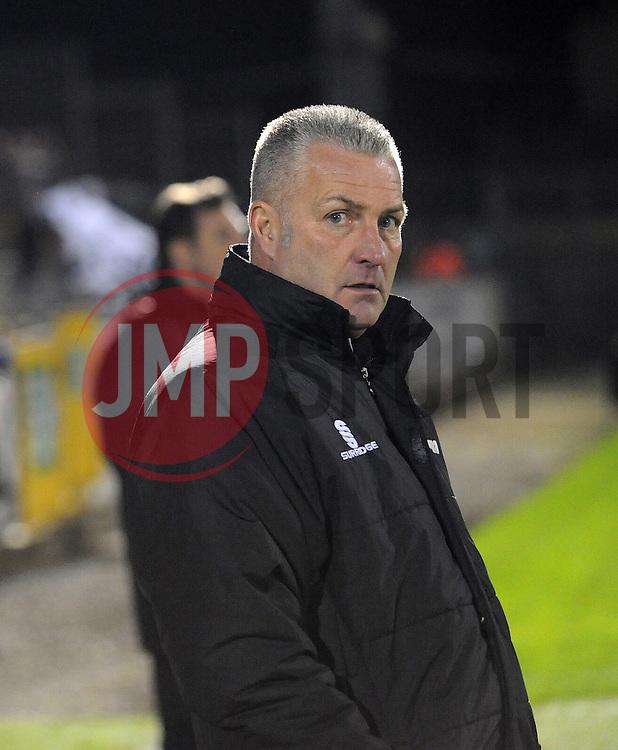 Gateshead Manager, Gary Mills - Photo mandatory by-line: Neil Brookman/JMP - Mobile: 07966 386802 - 19/12/2014 - SPORT - football - Bristol - Memorial Stadium - Bristol Rovers v Gateshead  - Vanarama Conference