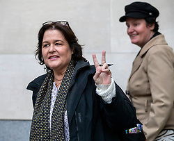 © Licensed to London News Pictures. 20/11/2019. London, UK. Activist Amy Dalla Mura leaves court on bail after being found guilty at Westminster Magistrates' Court of harassing MP Anna Soubry party leader of Change UK – The Independent Group. Alex Lentati/LNP