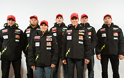 Simon Kocevar, Klemen Bauer, Andreja Mali, Jakov Fak, Teja Gregorin, Janez Maric and Peter Dokl during media day of Ski Association of Slovenia before new winter season 2012/13, on October 13, 2012, in Cerklje na Gorenjskem, Slovenia. (Photo by Vid Ponikvar / Sportida)