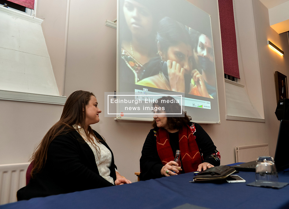 Campaigner Leslee Udwin (right) with Anna Poole QC, from the Faculty of Advocates before a screening of the acclaimed film maker and activist's film 'India's Daughter' at the launch of the faculty's new anti bullying and discrimination policy in Edinburgh.<br /> <br /> © Dave Johnston/ EEm