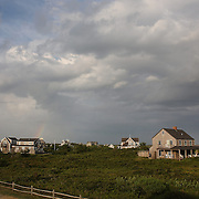 Beachside properties near the coastline at Cisco Beach, Nantucket, Nantucket Island, Massachusetts, USA. Photo Tim Clayton