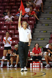 31 Aug 2010: Line judge. The Illinois State Redbirds trumped the Rambles of Loyola-Chicago 3 sets to none at Redbird Arena on the campus of Illinois State University in Normal Illinois.