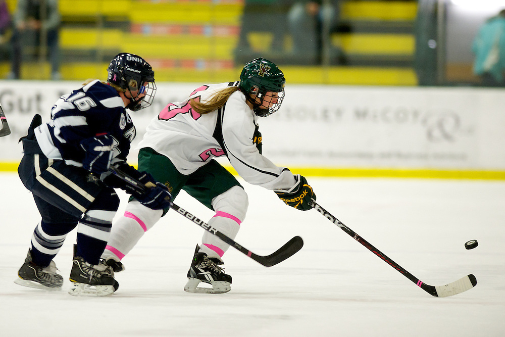 The women's hockey game between the New Hampshire Wildcats and the Vermont Catamounts at Gutterson Fieldhouse on Sunday afternoon Janaury 29, 2012 in Burlington, Vermont
