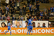 The San Jose Earthquakes celebrate a goal against the Montreal Impact in the second half of the game at Buck Shaw Stadium in Santa Clara, California, on September 17, 2013.  The San Jose Earthquakes beat Montreal Impact 3-0. (Stan Olszewski/QMI Agency)