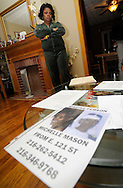 Mary Mason talks about the disappearance of her sister, Michelle,  on Wednesday November 4, 2009 in Garfield Heights, Ohio. Mary is concerned that her sister may be one of 11 bodies foudn in the home of Anthony Sowell in Cleveland...