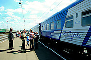 "All Aboard!  This version of the Trans-Siberian Railway is the ""Baikal"" which runs between Irkutsk, Siberia  (""The Paris of Siberia"") and Moscow.  The Baikal is preferable to ""The Rossiya"" as it has a shower compartment which comes in handy.  As the trip takes three nights and four days, a shower is a nice thing to have for your comfort, not to mention the olfactory comfort of your fellow passengers."