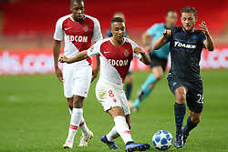 November 6, 2018 - Monaco, MONACO - Monaco's Youri Tielemans and Club's Mats Rits fight for the ball during a game between AS Monaco and Belgian soccer team Club Brugge KV in the Principality of Monaco, Tuesday 06 November 2018, on day four of the UEFA Champions League, in group A. BELGA PHOTO BRUNO FAHY (Credit Image: © Bruno Fahy/Belga via ZUMA Press)