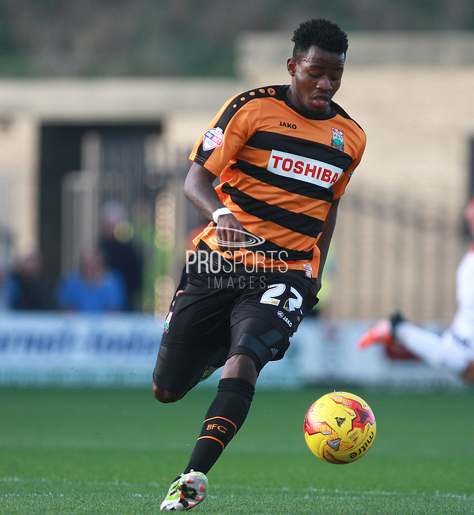 Barnet striker Josh Clarke during the Sky Bet League 2 match between Barnet and Exeter City at The Hive Stadium, London, England on 31 October 2015. Photo by Bennett Dean.