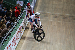 March 2, 2019 - Pruszkow, Poland - Denis Dmitriev of Russia competes in the Men's sprint qualifying race on day four of the UCI Track Cycling World Championships held in the BGZ BNP Paribas Velodrome Arena on March 02 2019 in Pruszkow, Poland. (Credit Image: © Foto Olimpik/NurPhoto via ZUMA Press)