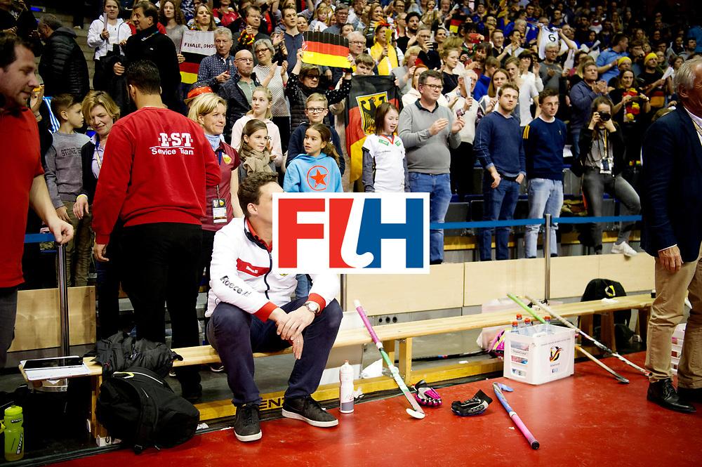 BERLIN - Indoor Hockey World Cup<br /> Semi-final: Belarus - Germany<br /> foto: AKim Bouchouchi.<br /> WORLDSPORTPICS COPYRIGHT FRANK UIJLENBROEK