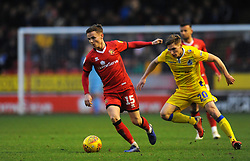 Gavin Reilly of Bristol Rovers applies pressure on Liam Kinsella of Walsall- Mandatory by-line: Nizaam Jones/JMP - 26/12/2018 - FOOTBALL - Banks's Stadium - Walsall, England- Walsall v Bristol Rovers - Sky Bet League One